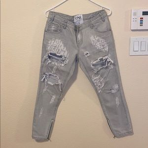 One by teaspoon distressed jeans